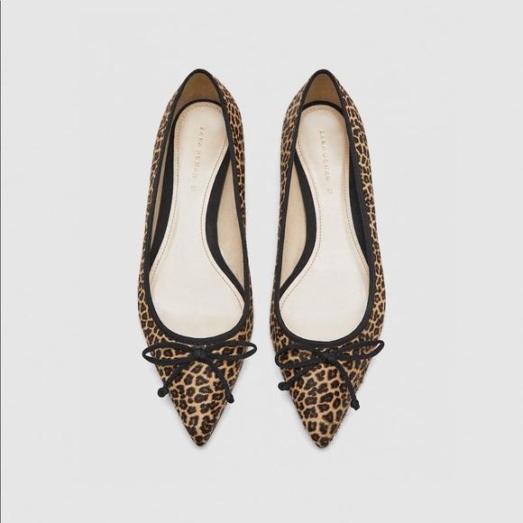 93fd0c4111 Zara Shoes | Leather Flats Size 398 | Poshmark